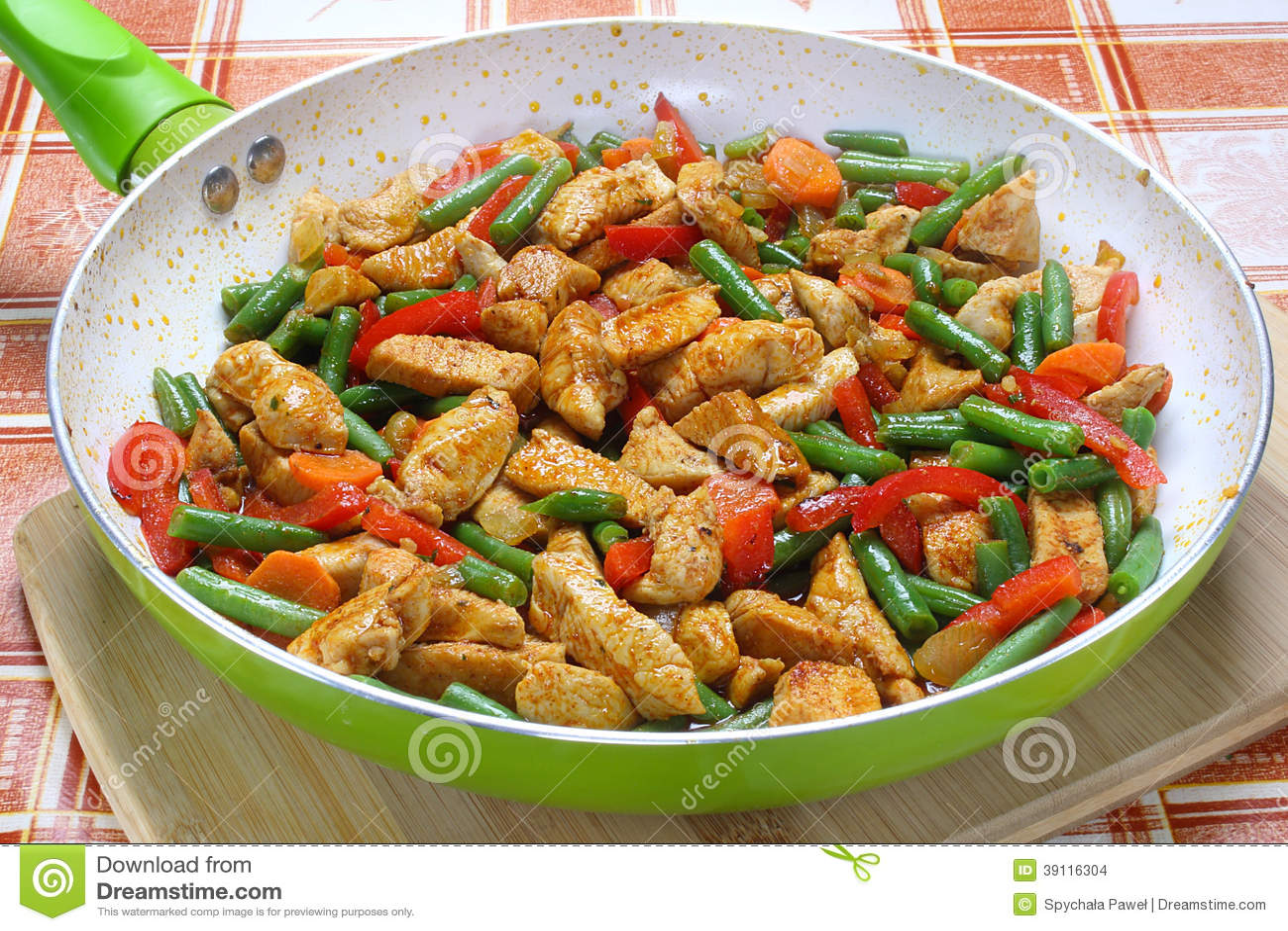 kyckling och grönsaker