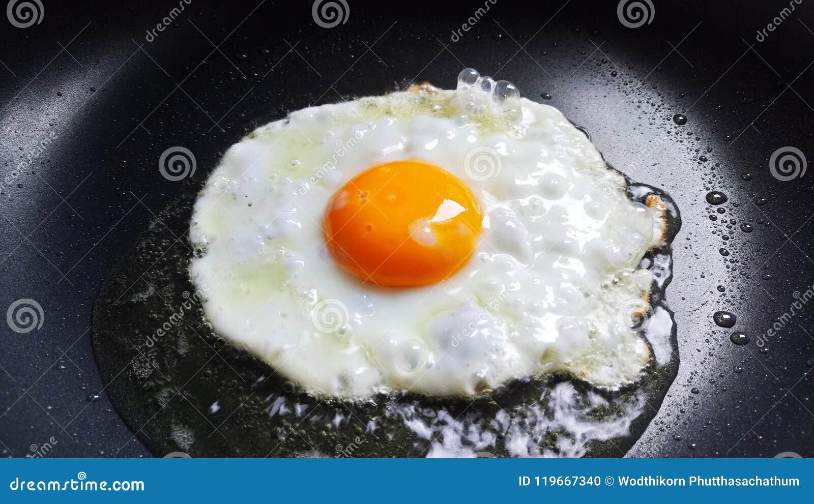 Stekt solig sida upp ägget