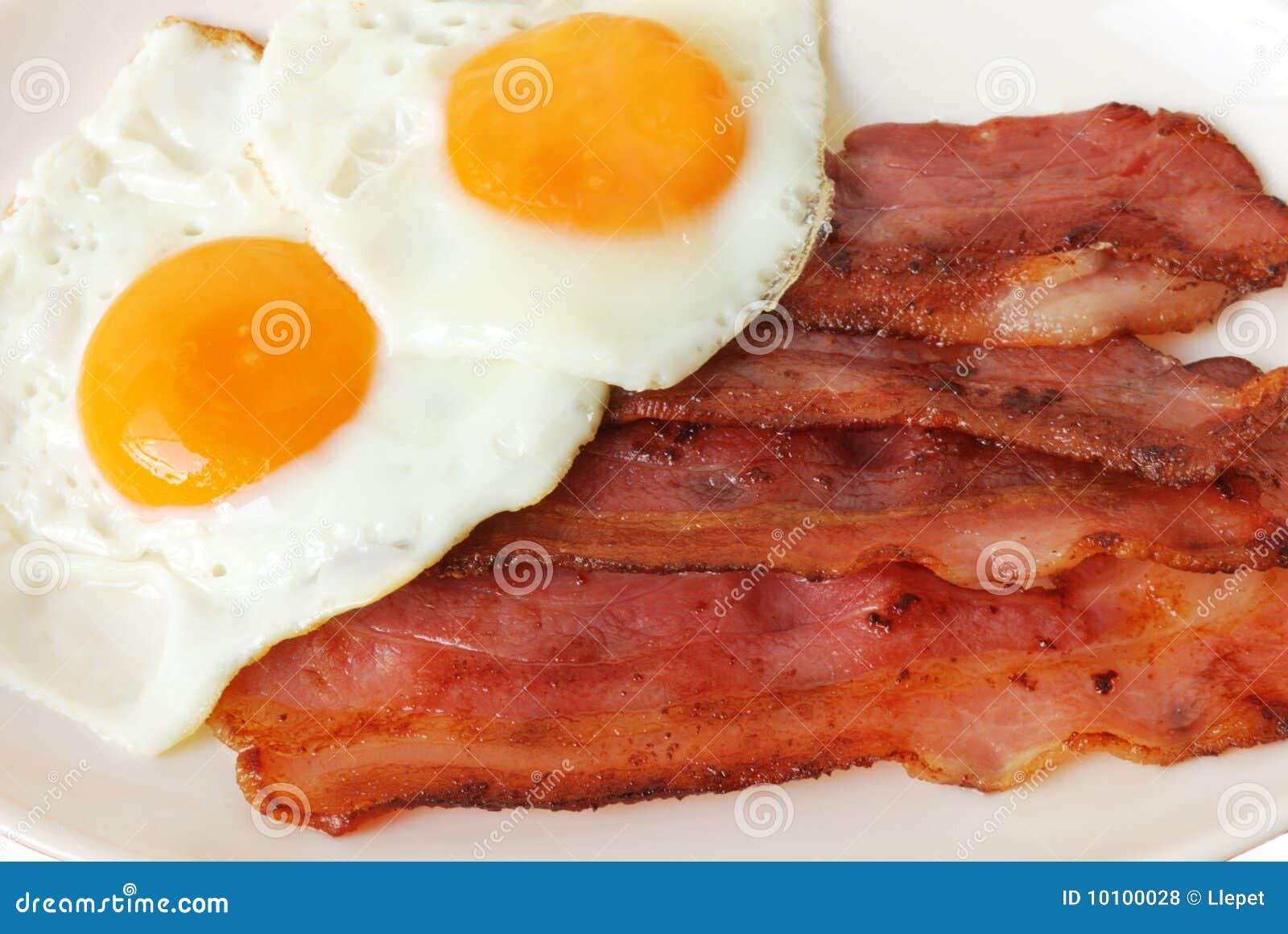 Stekte baconägg
