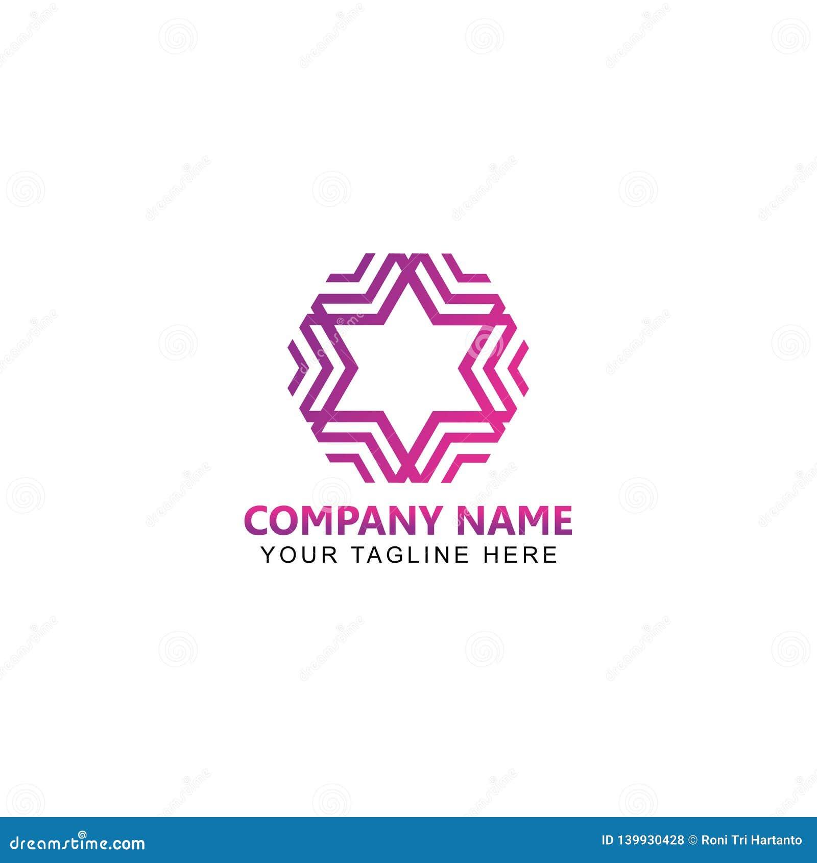 Stella astratta Logo Vector Design