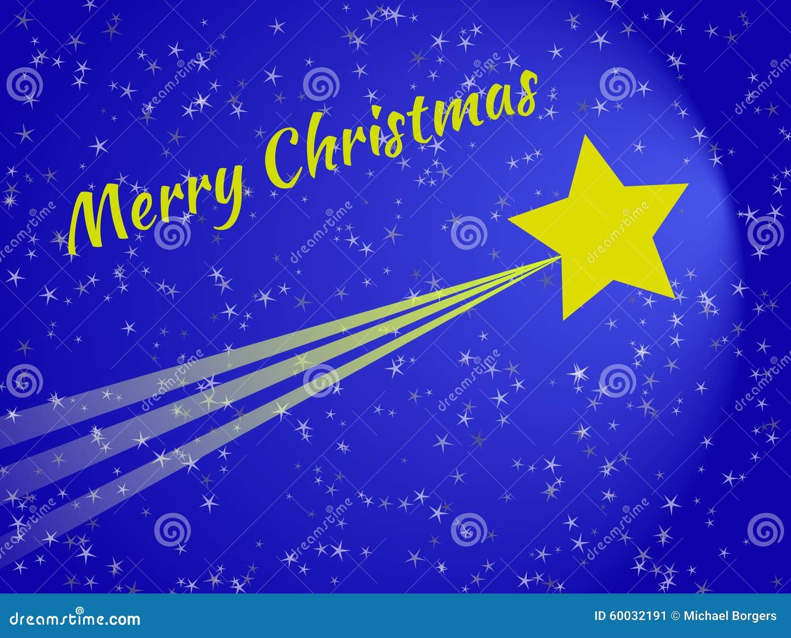 Stella Cadente Di Natale.Stella Cadente Alla Cartolina Di Natale Di Notte