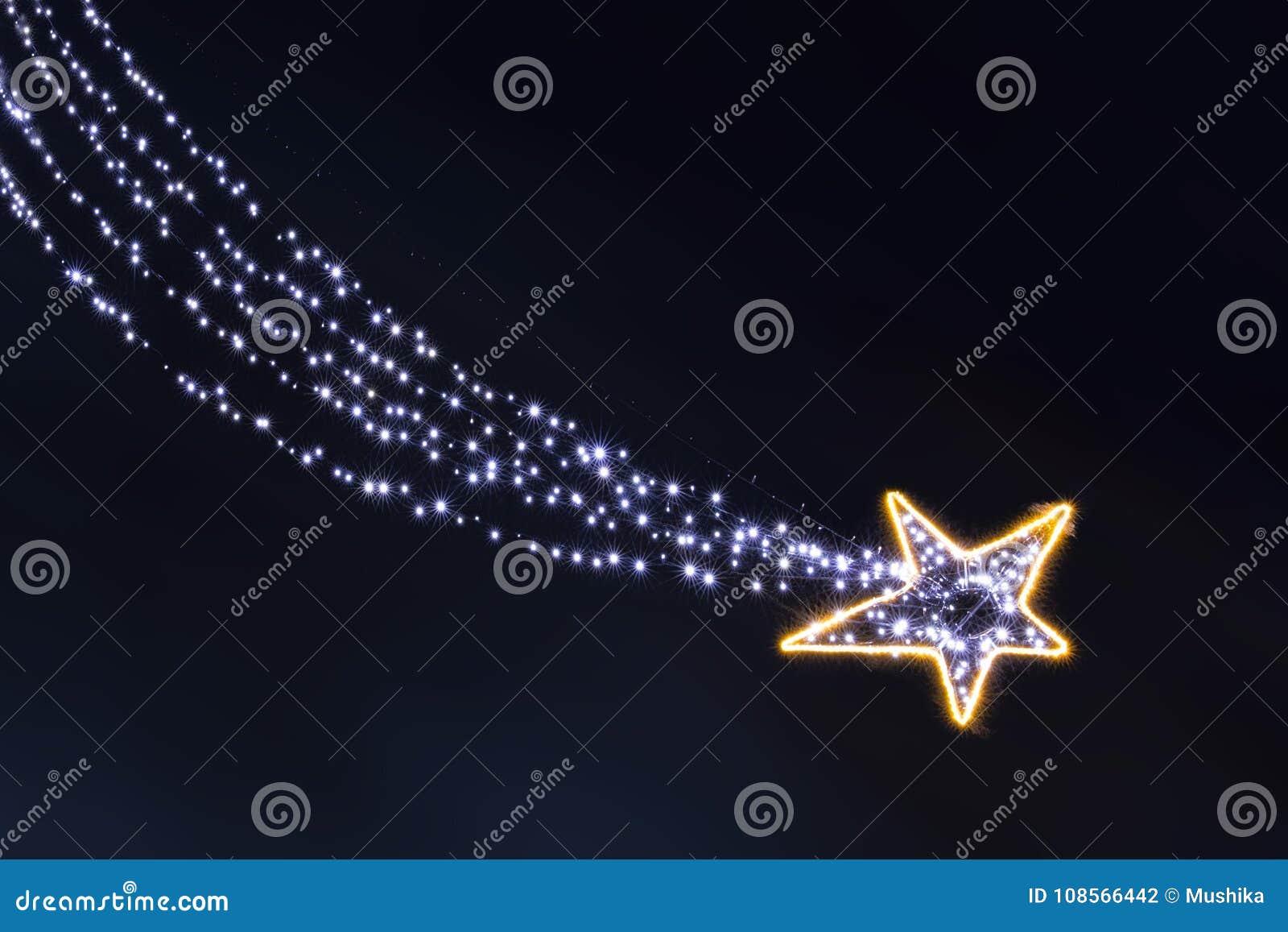 Stella Cadente Di Natale.Stella Cadente Delle Lampadine Della Ghirlanda Di Natale
