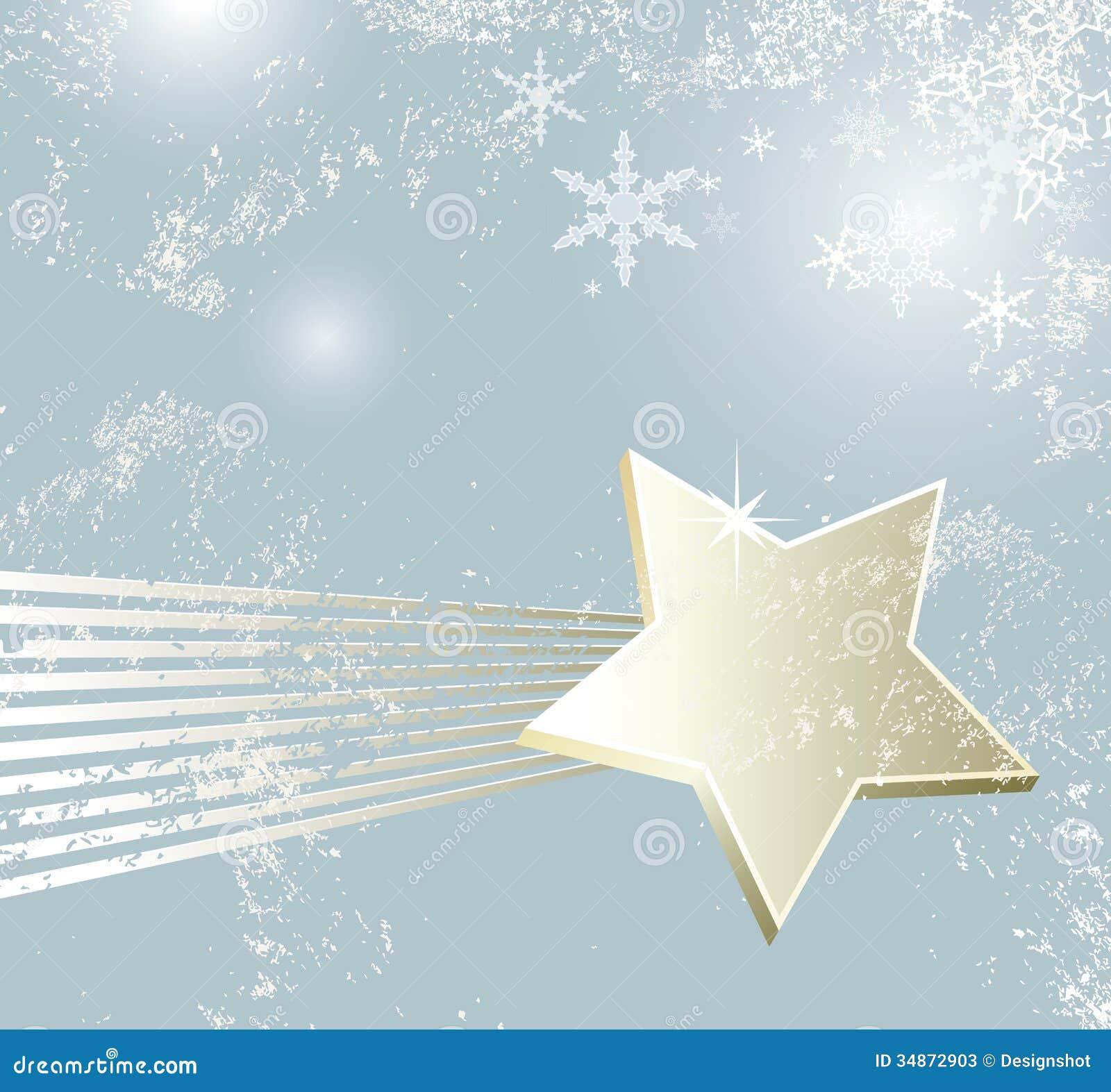 Stella Cadente Di Natale.Stella Cadente Di Natale Illustrazione Vettoriale