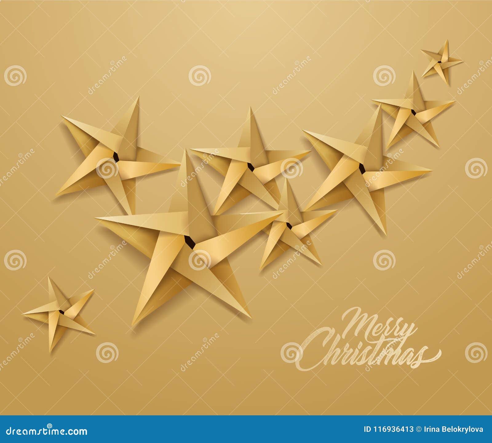 Origami Stella Di Natale.Stella Di Carta Di Festa Di Natale Di Origami Di Vettore Illustrazione Vettoriale Illustrazione Di Glowing Carta 116936413