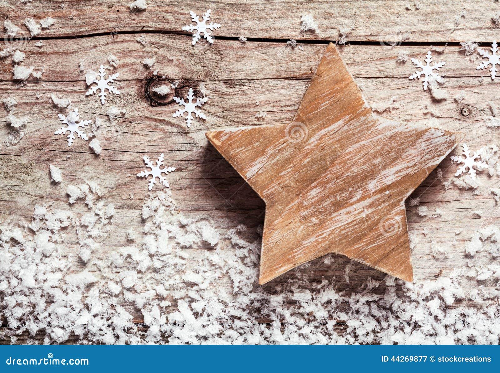 Stella Di Natale Legno.Stella Di Legno Rustica Fatta A Mano Di Natale Immagine Stock