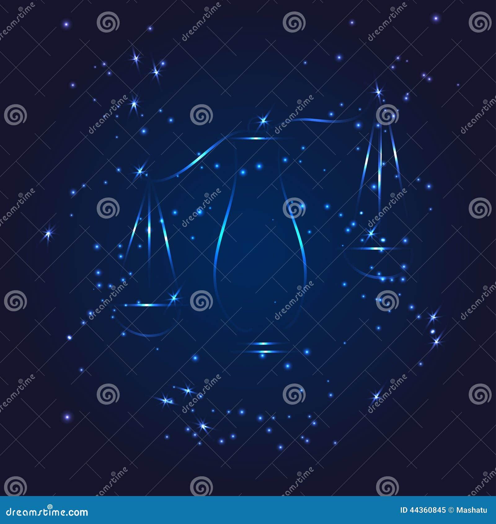 Stella di scintillio del whith dello zodiaco della Bilancia