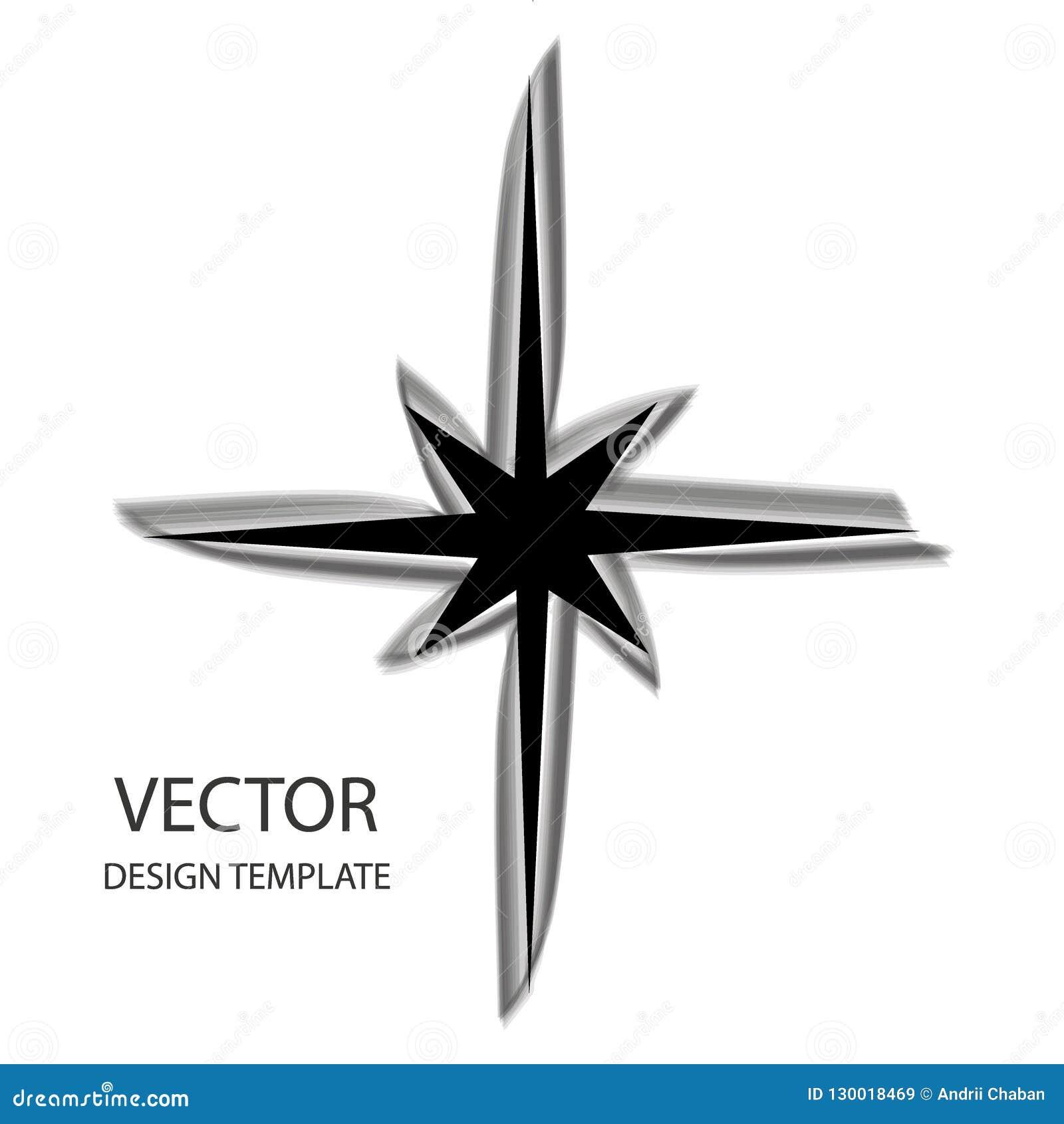 Stella di vettore Retro stella Priorità bassa della stella Stella nera Segno della stella Simbolo della stella Logo della stella