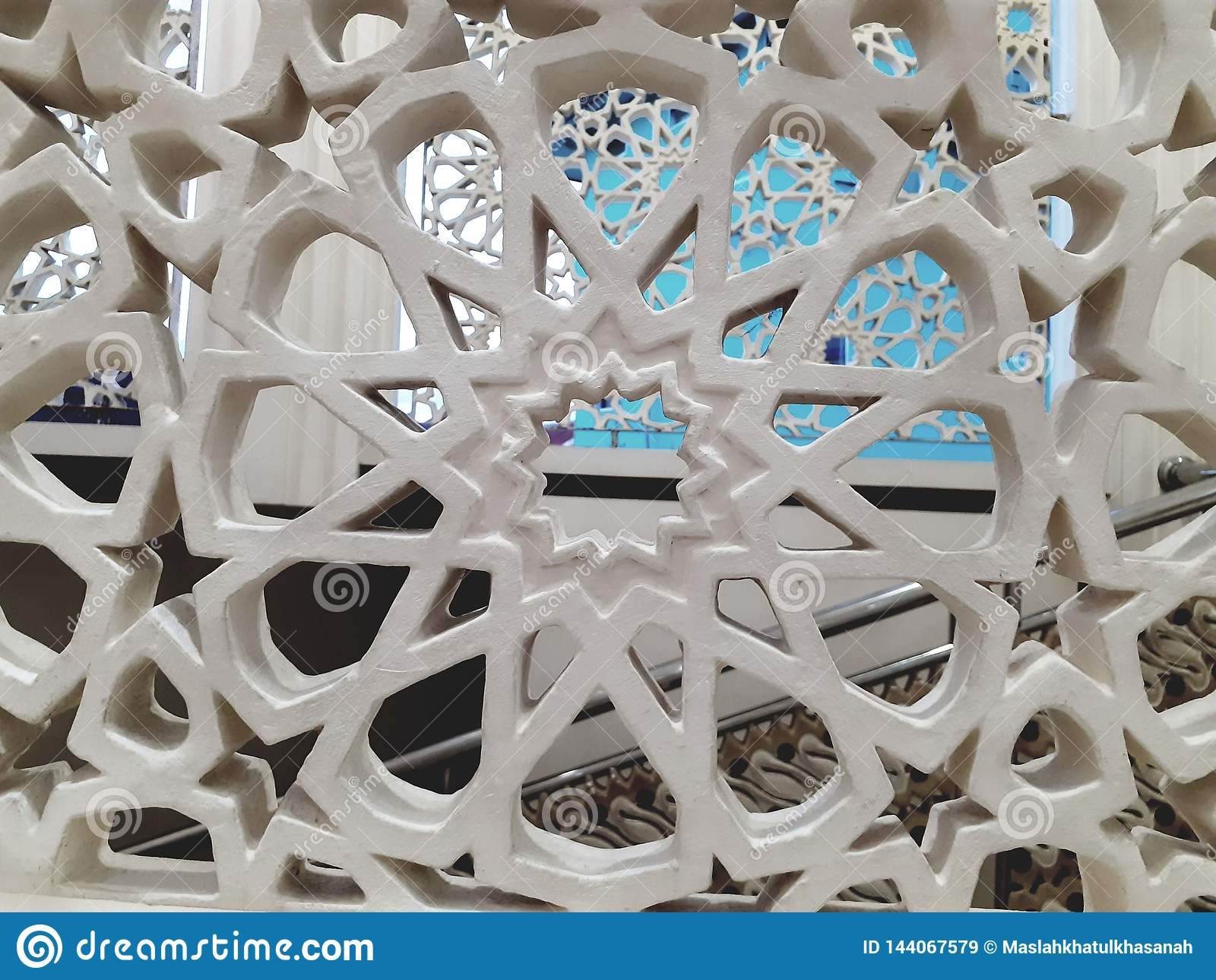 Stella islamica moderna del fondo di struttura della carta da parati