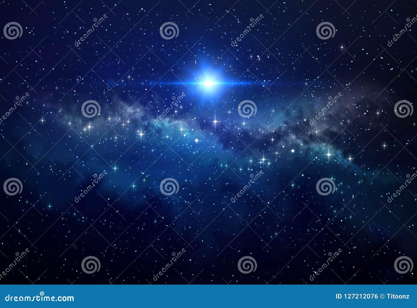 Stella luminosa nella galassia