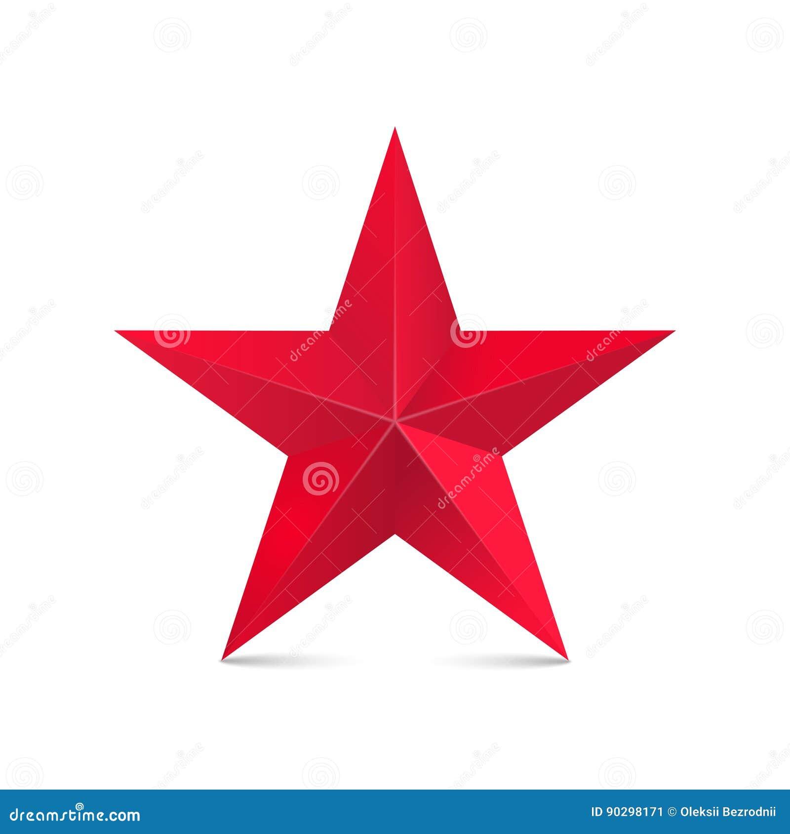 Stella rossa 3d