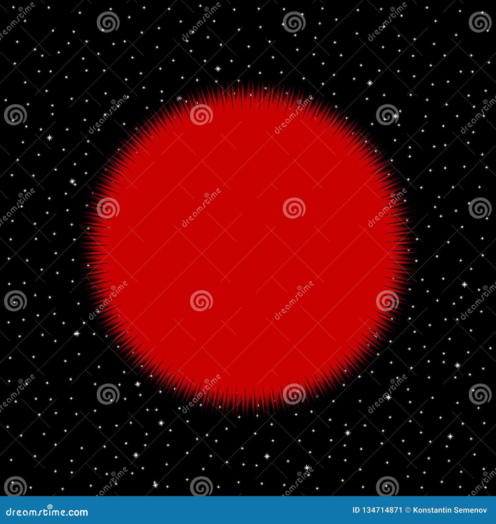 Stella rossa su fondo cosmico