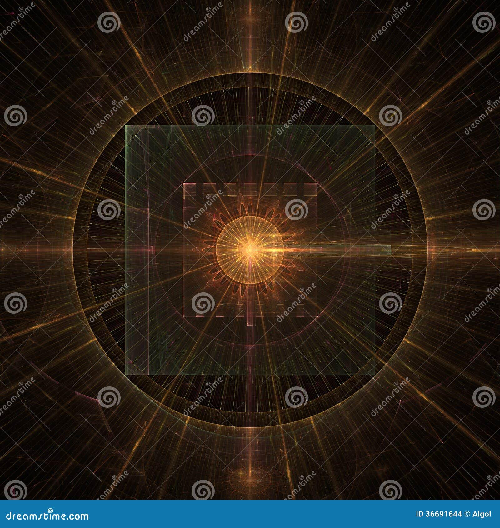 illustration fractal background clocks - photo #2