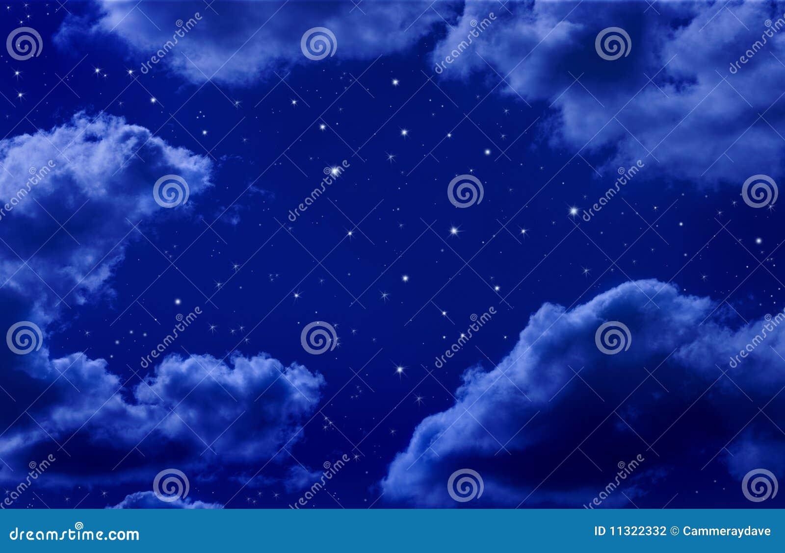 Stelle in cielo notturno