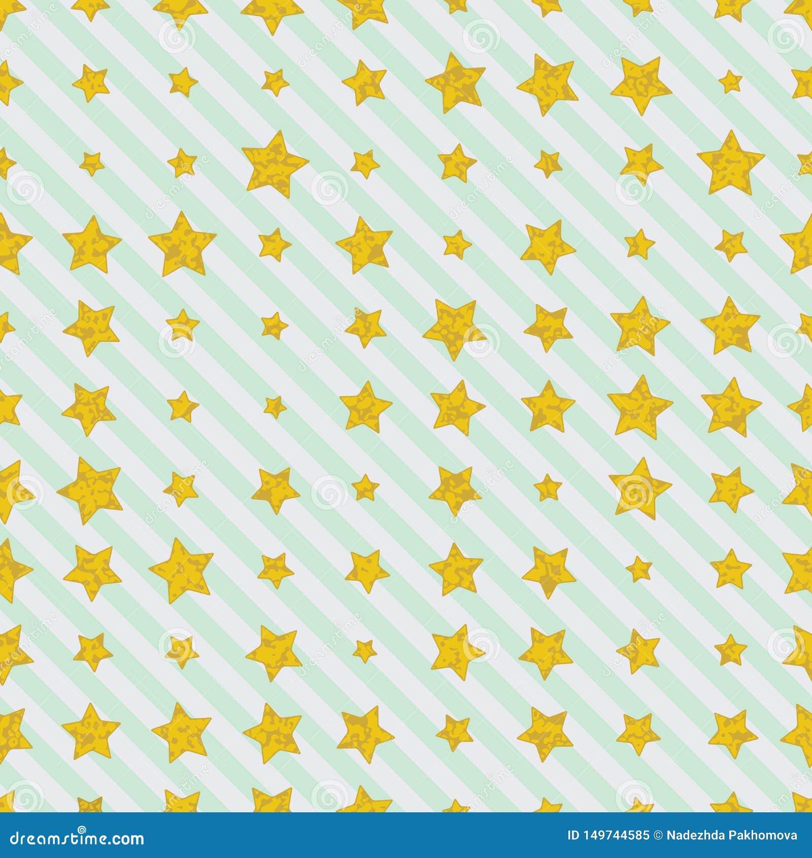 Stelle dorate sulle linee rette diagonali fondo
