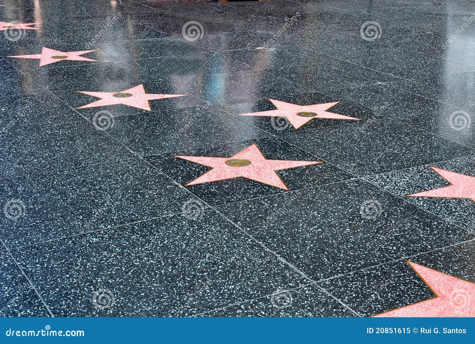 Stelle sulla camminata di Hollywood di fama