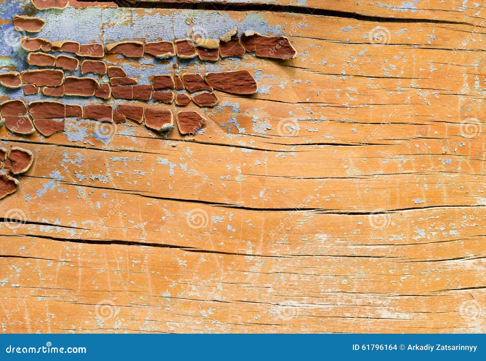 Stellen der Farbe auf Holzoberfläche