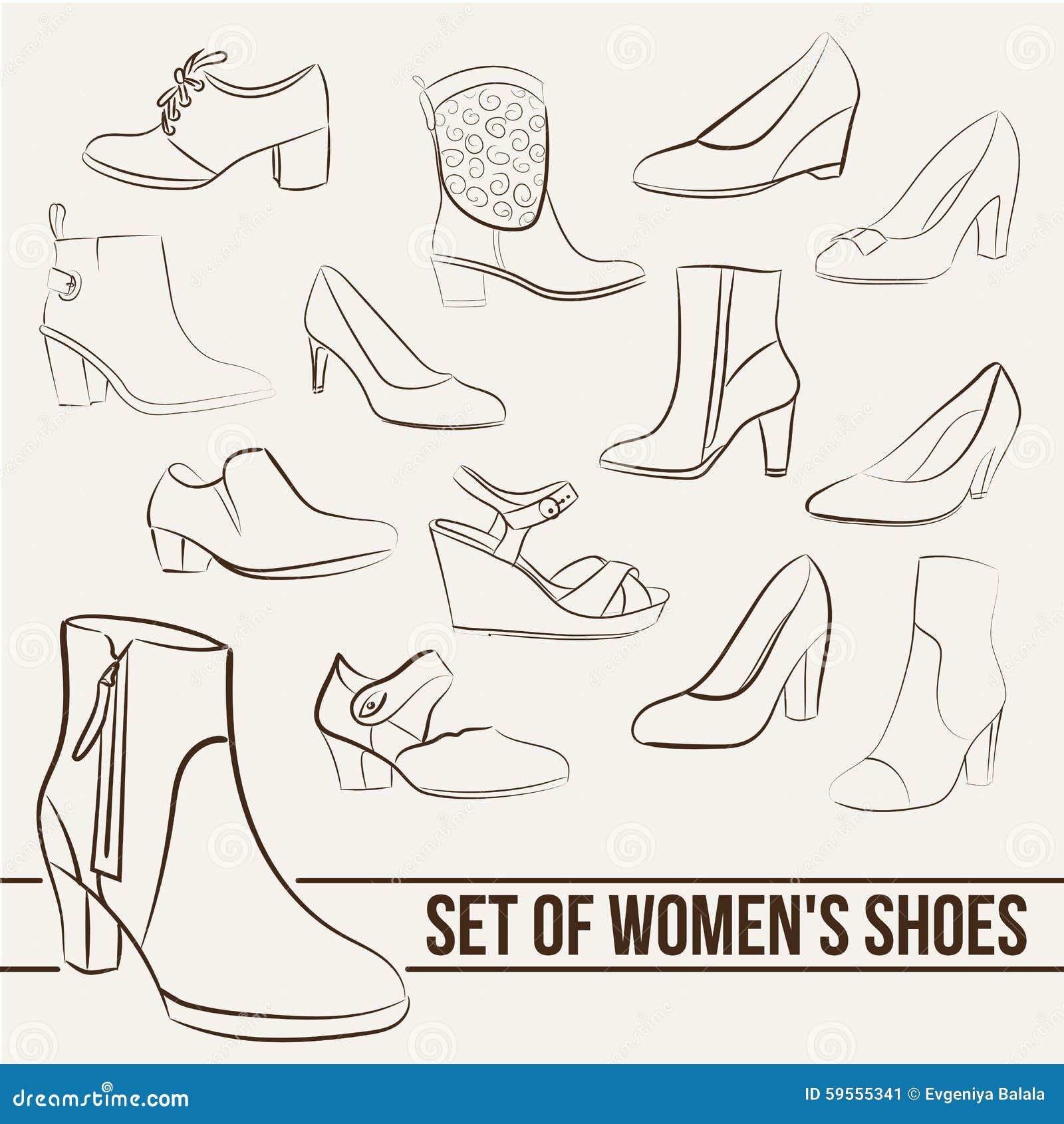 In Ein Linien Sie FrauenGemalte Schuhe Stellen Der rxBWCodeQ