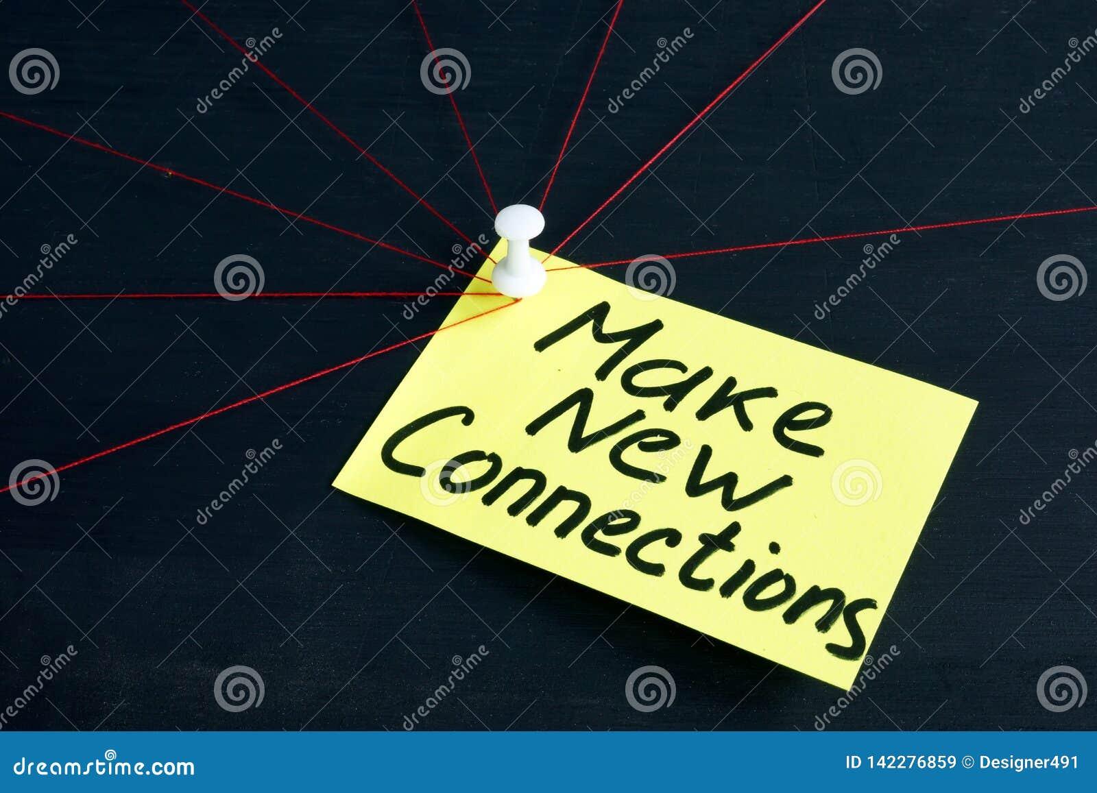 Stellen Sie die neuen Beziehungen her, die auf Seite geschrieben werden Arbeit im Geschäftsteam