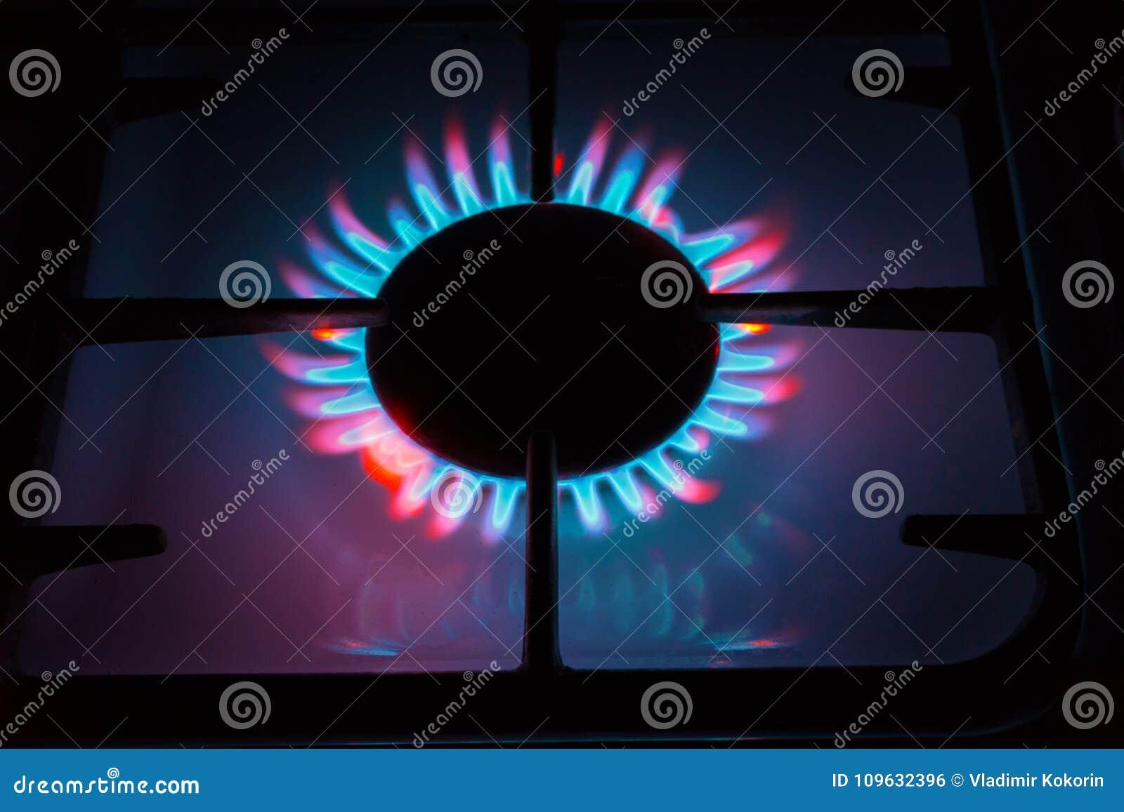 Stellen Sie etwas wie das brennende Gas dar, das von den Gasbrennern kommt Mehrfarbige Flamme