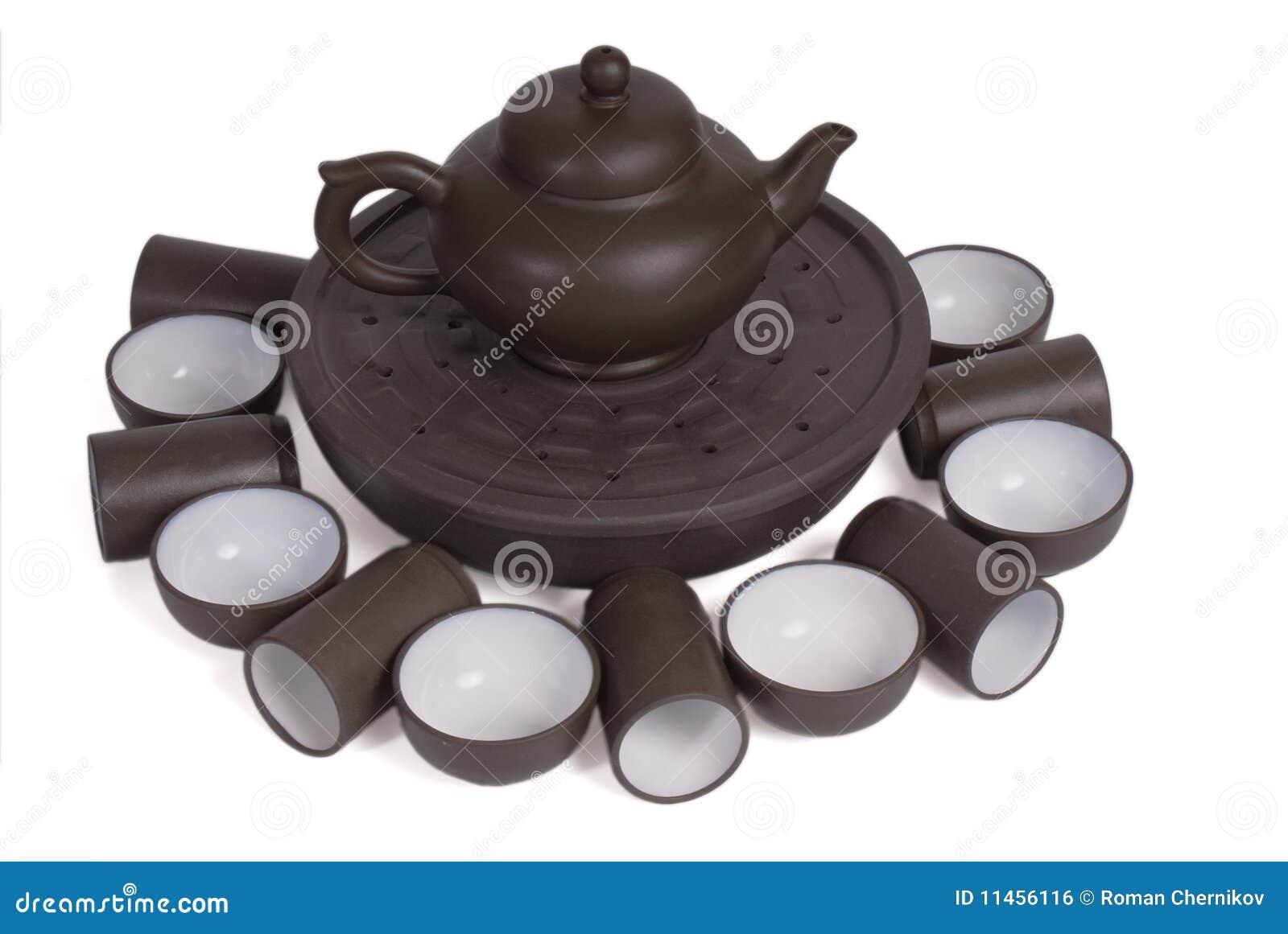 Stellen Sie für die chinesische Tezeremonie ein
