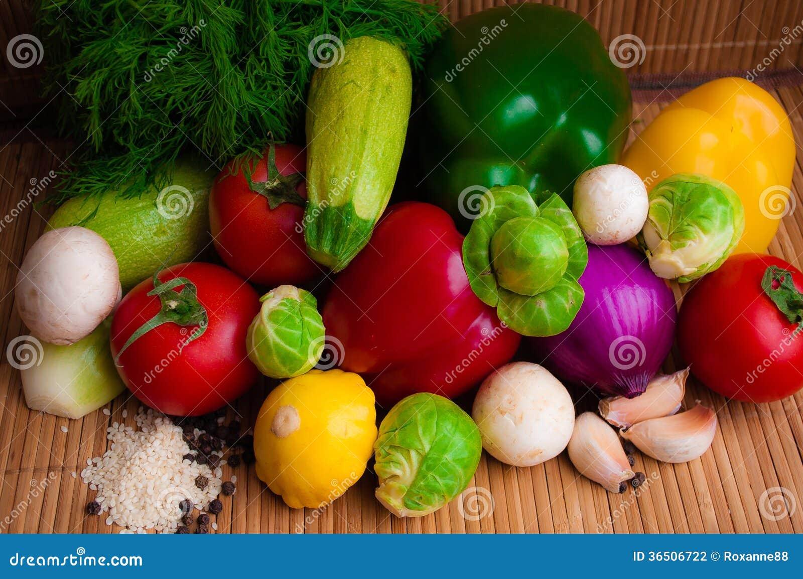 Stellen Sie Gemüse ein
