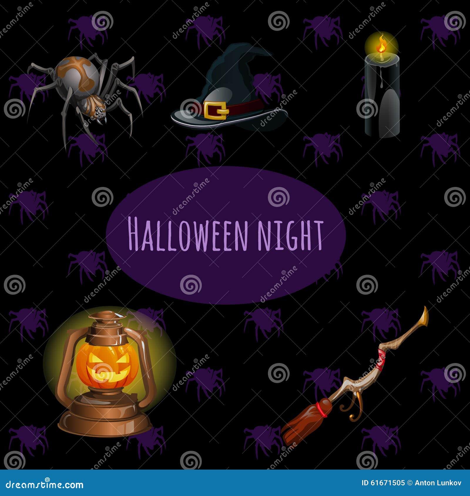 Stellen Sie Hexen auf Halloween-Partei ein