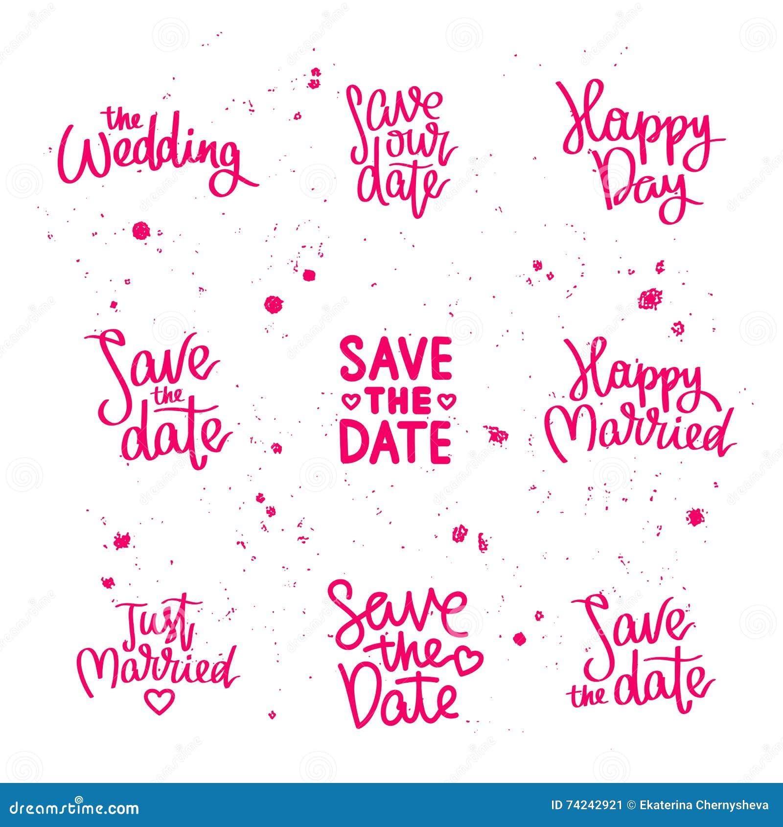 Stellen Sie Hochzeitszitate Ein Kalligraphie Vektor Abbildung