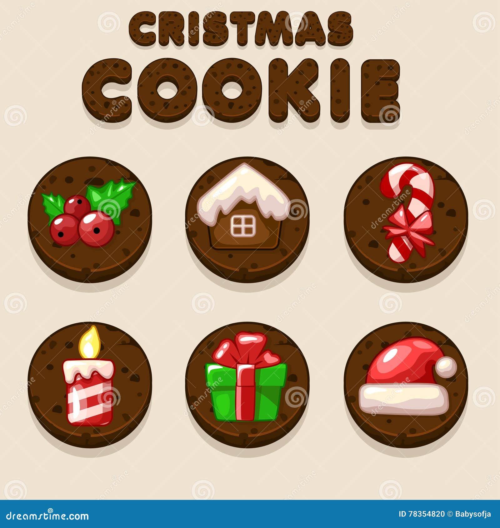 stellen sie karikatur weihnachtsschokolade biskvit. Black Bedroom Furniture Sets. Home Design Ideas