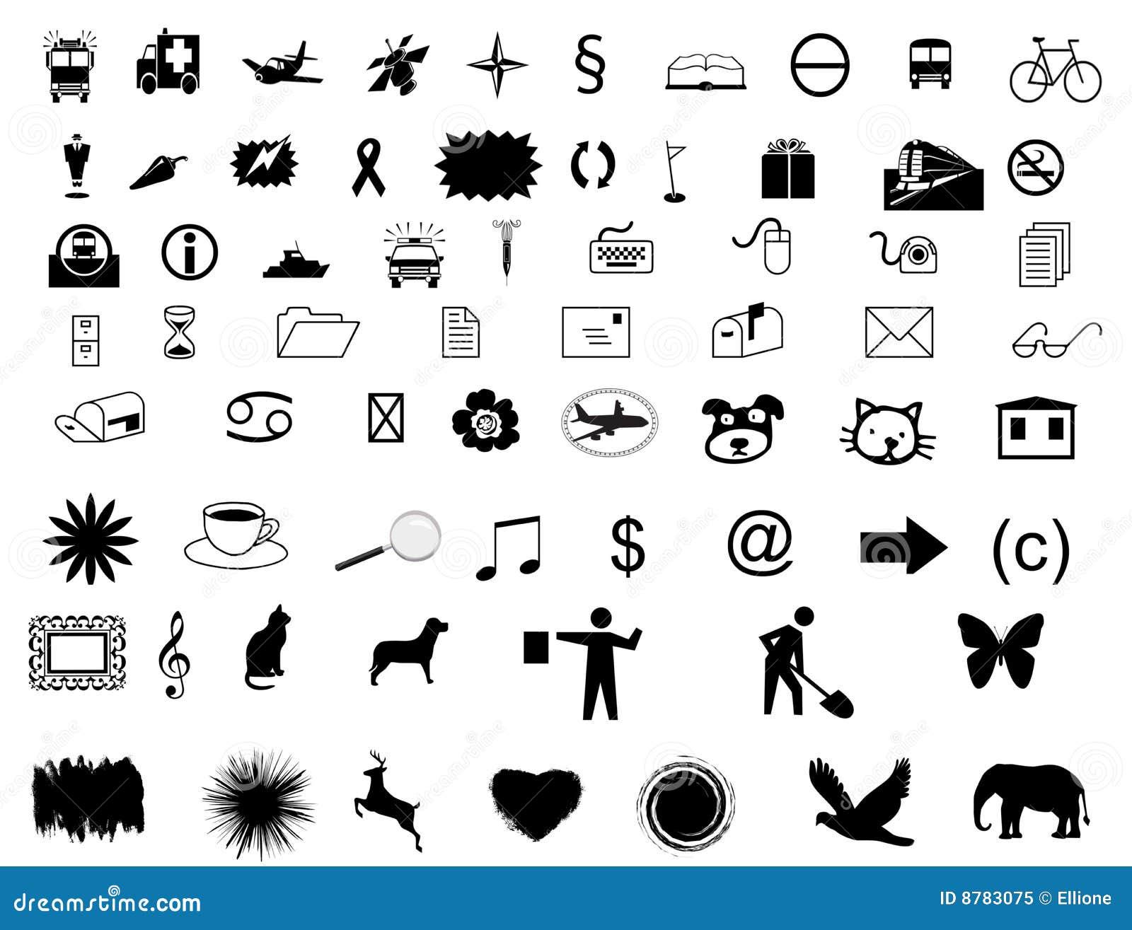Stellen Sie Symbole ein