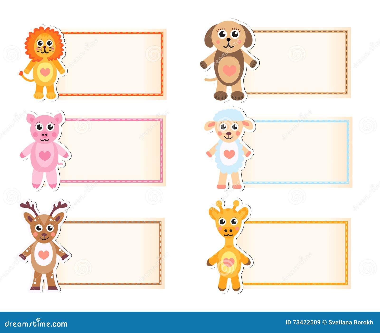 Stellen Sie Tierische Leere Schablone Für Text Ein Löwe Giraffe