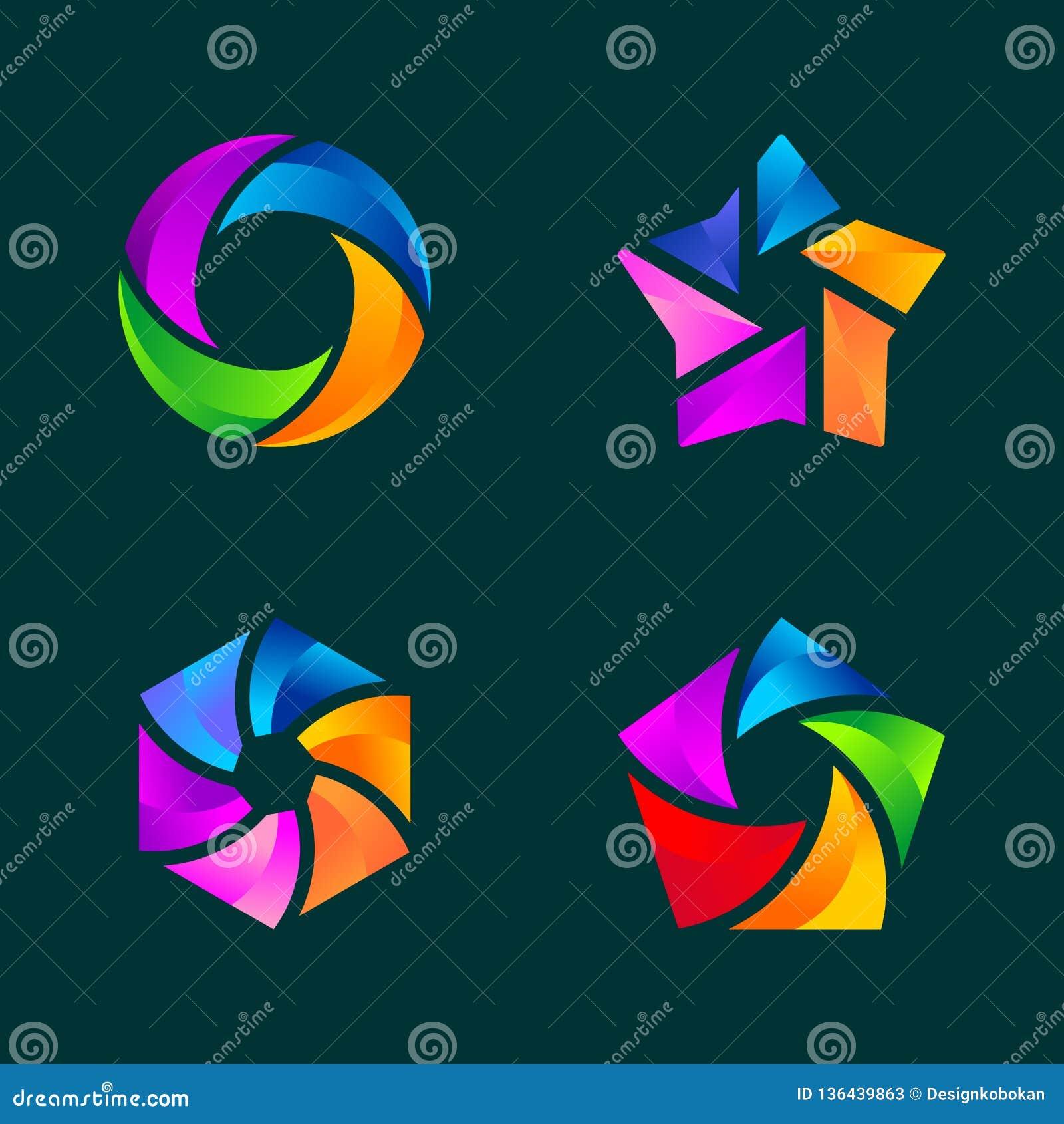 Stellen Sie vom abstrakten Geschäft Logo Template ein