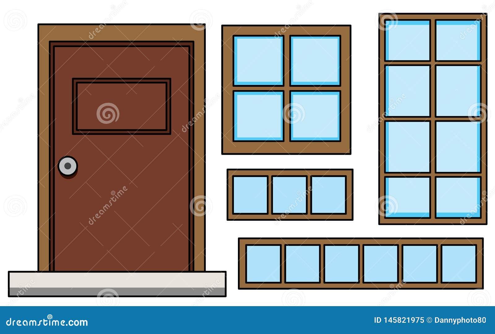 Stellen Sie vom Fenster und von der Tür ein