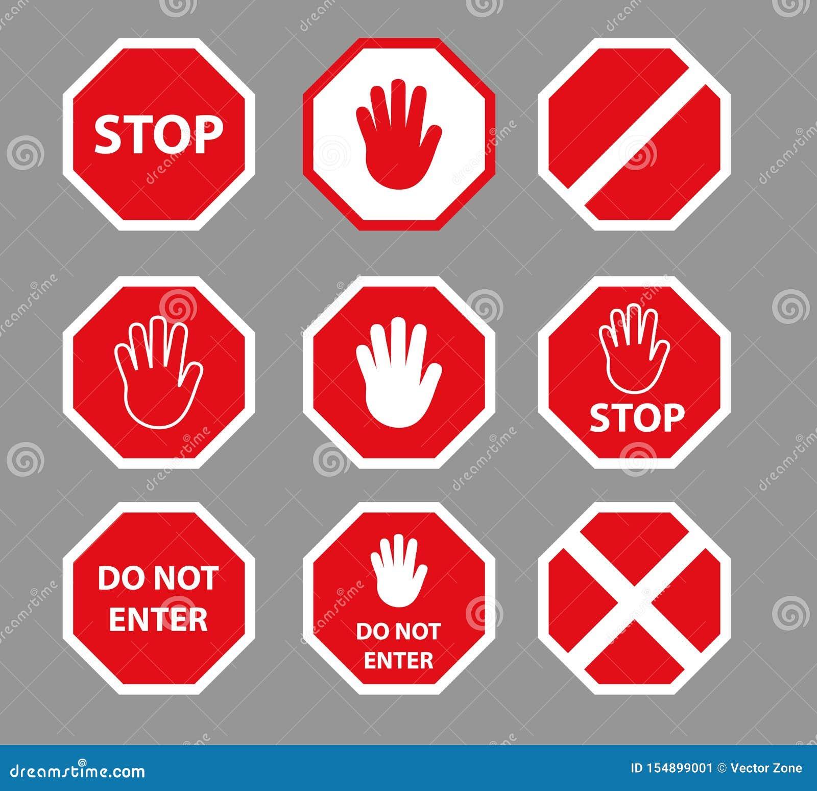 stellen sie von den endverkehrsschildern mit handzeichen