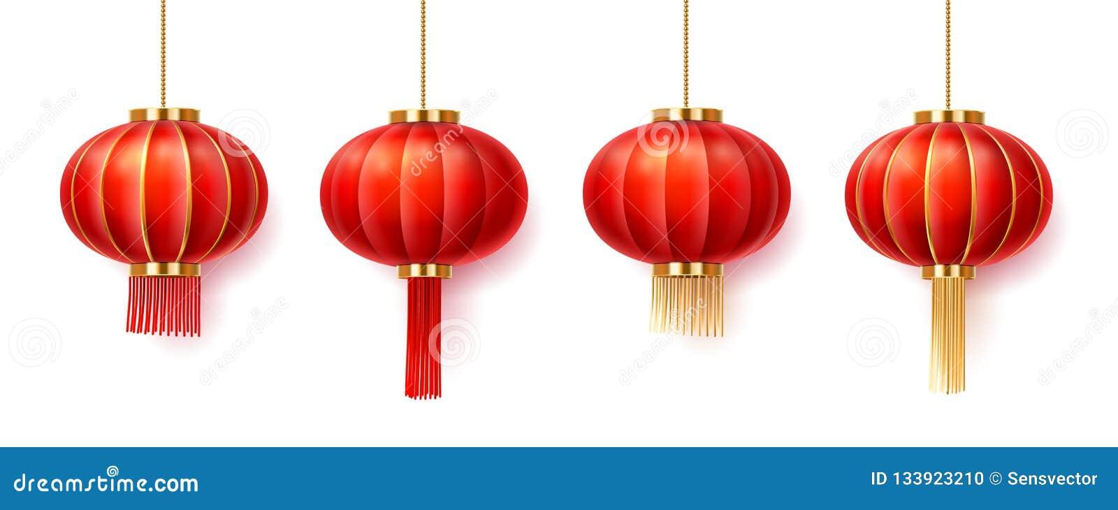 Stellen Sie von lokalisierten Chinatown-Laternen für neues Jahr ein