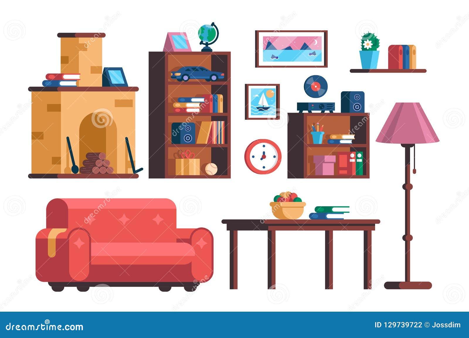 Stellen Sie Wohnzimmerinnenmöbelsammlung ein