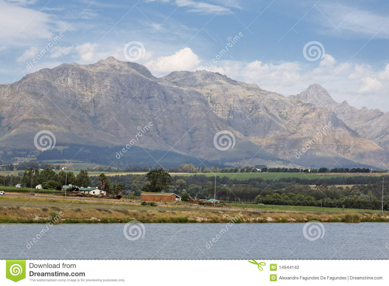 Stellenbosch South Africa  city photo : The high mountains and the wine country in Stellenbosch, South Africa.