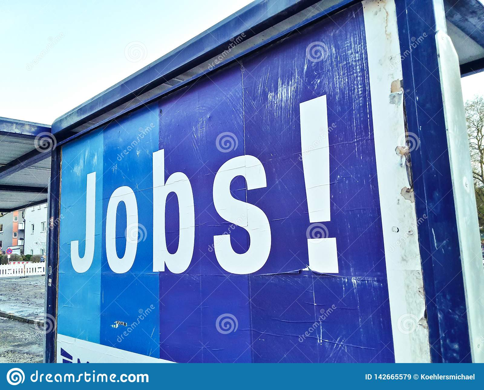 Stellengesuch-Werbungsplakat-Jobarbeitsarbeitskraft
