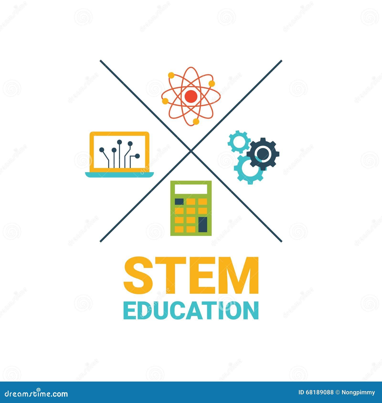 Stem Education: STEM Education Concept Stock Vector. Illustration Of Math