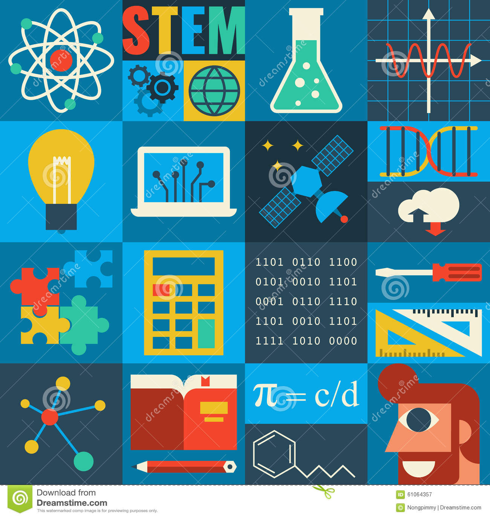 Stem Education: STEM Education Stock Vector