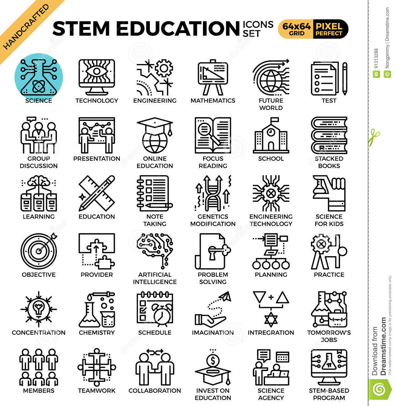Science Technology Engineering Math: Mobile/science And Stem Coloring Pages Sketch Coloring Page