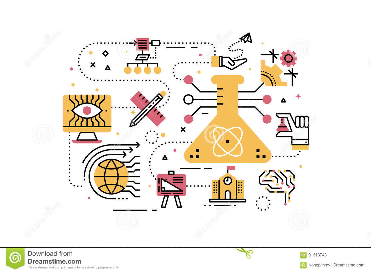 STEM Science,technology,engineering,math Education Stock Vector ...