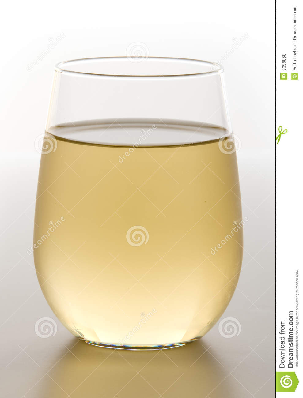 Stemless Glass of Chilled White Wine