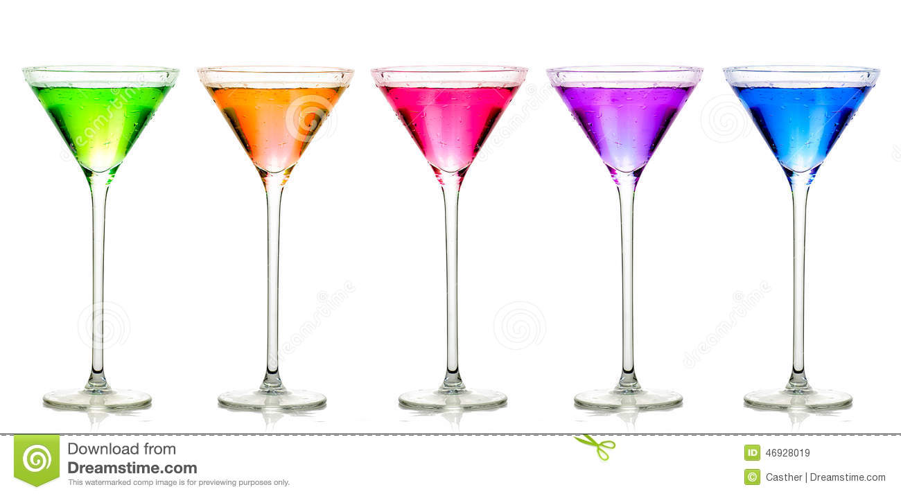 Different Cocktail Glasses