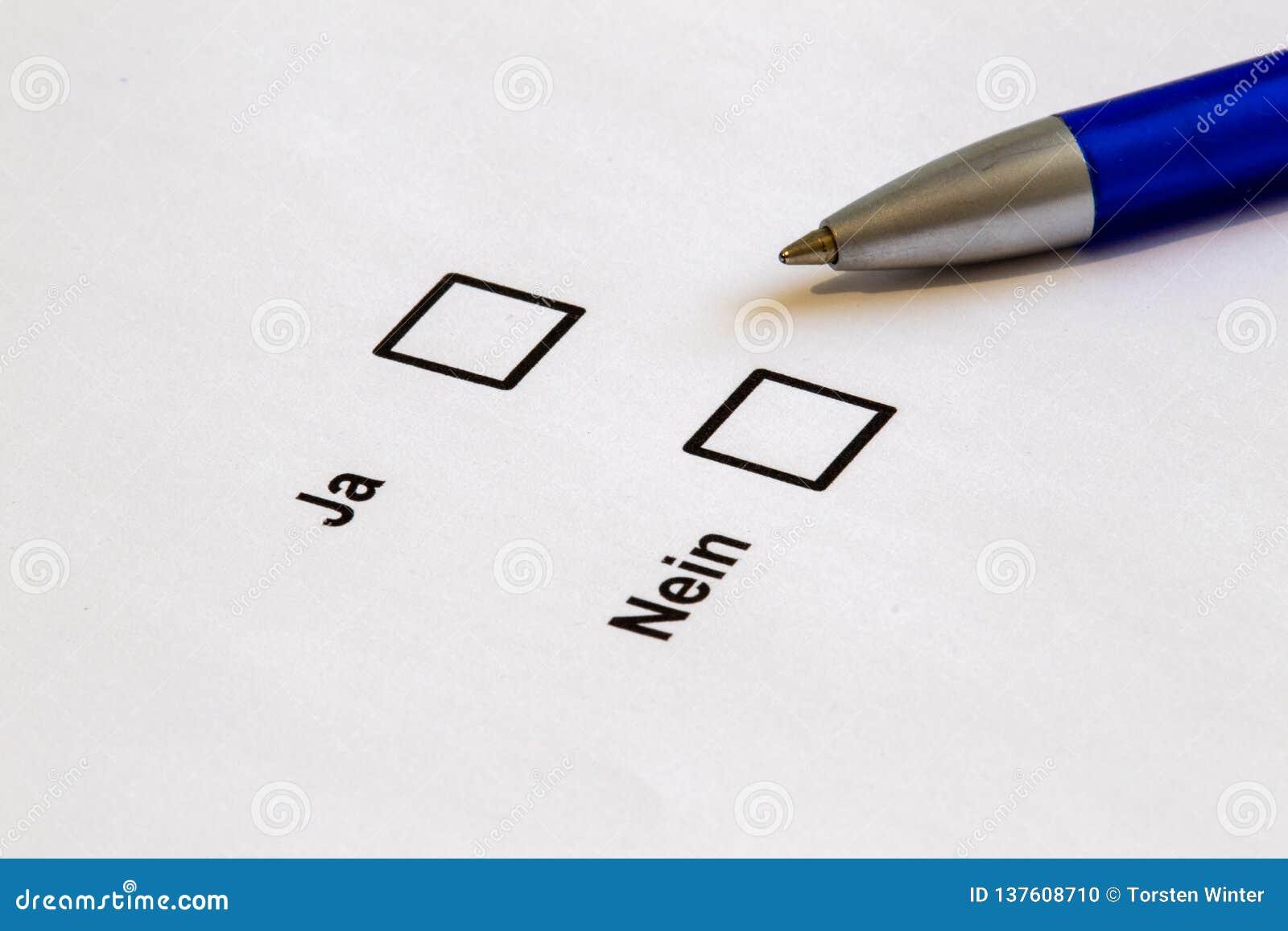 Stemmen-veelvoudige selectiedozen ja Nr