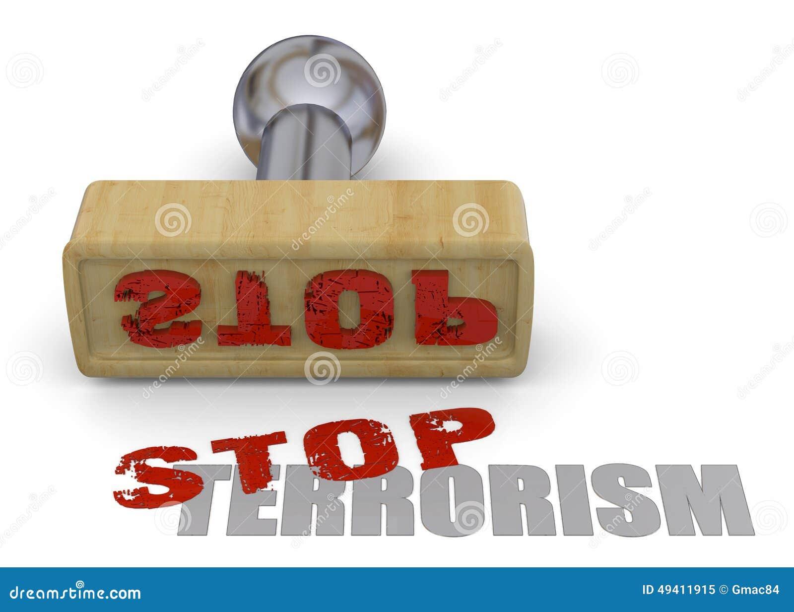 Download Stempel-Endterrorismus - 3D Stock Abbildung - Illustration von steuerknüppel, anhalten: 49411915