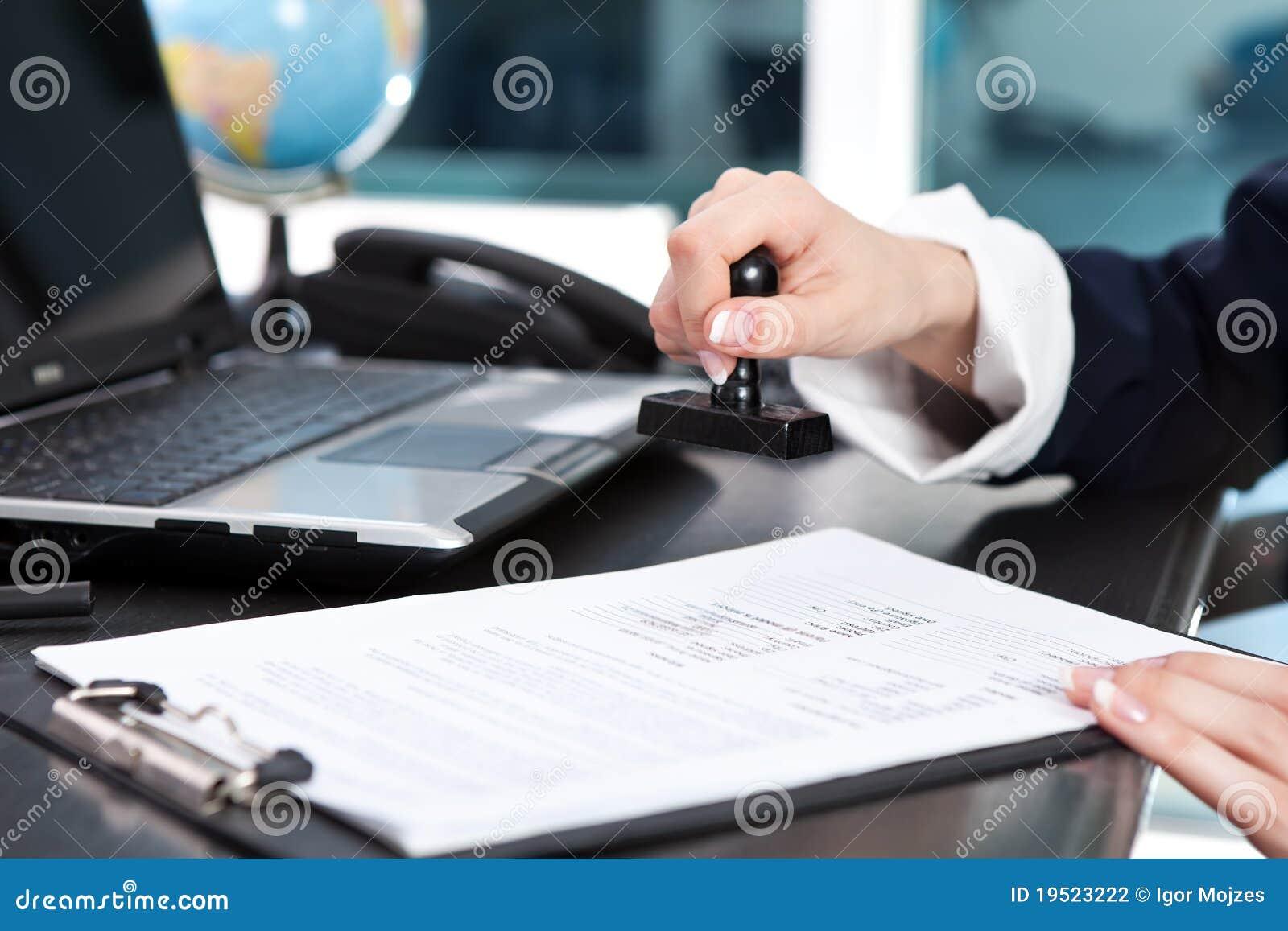 Stempelend document