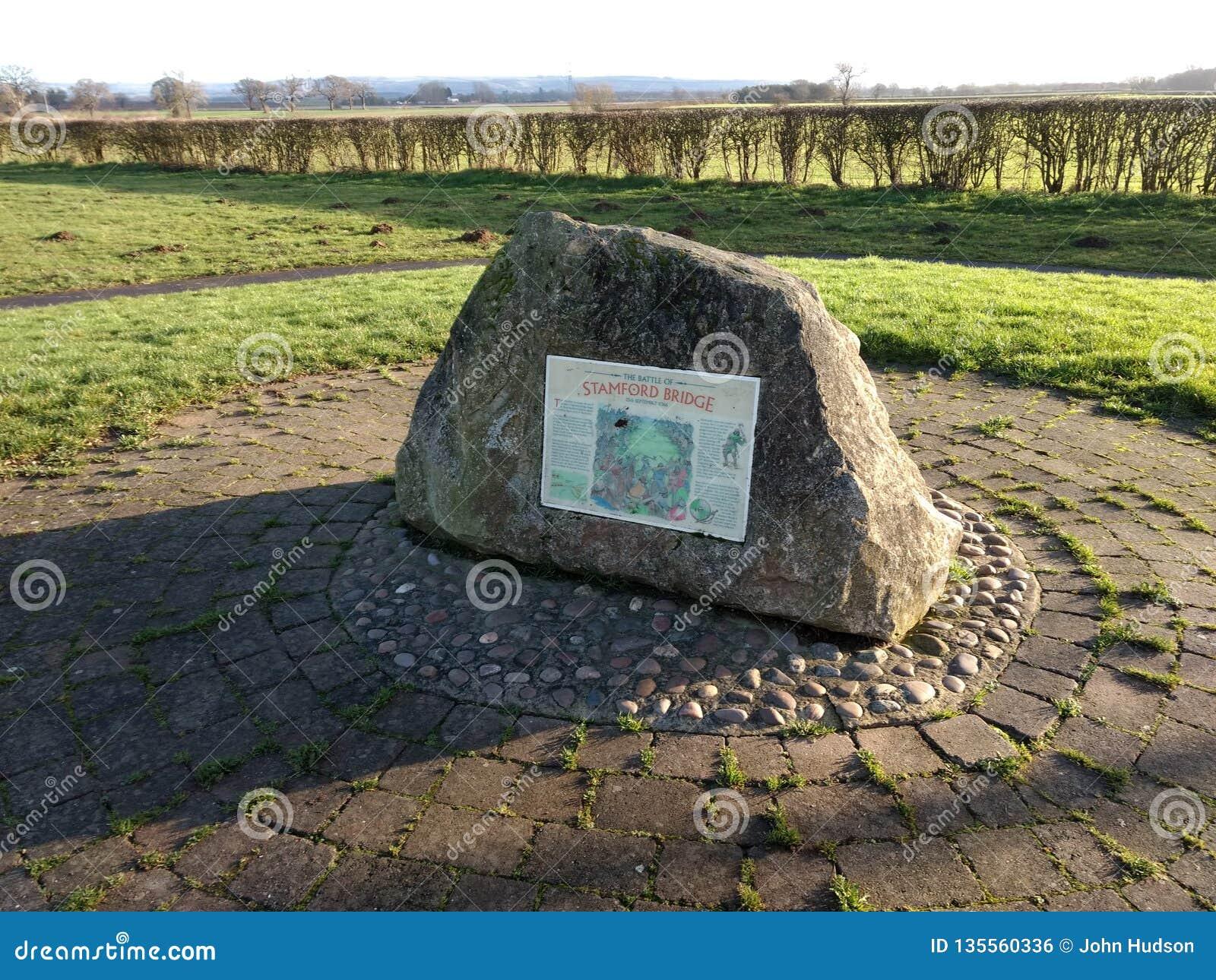 Sten för åminnelse för Stamford brostrid
