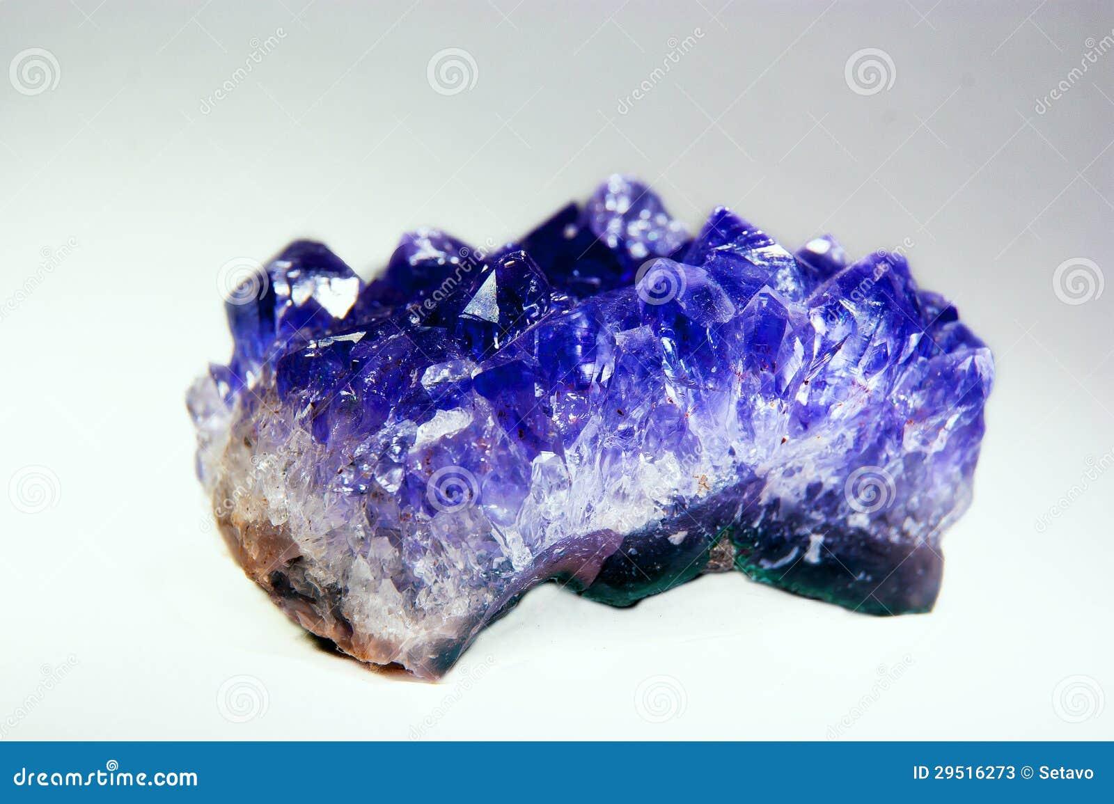 blå kristall sten