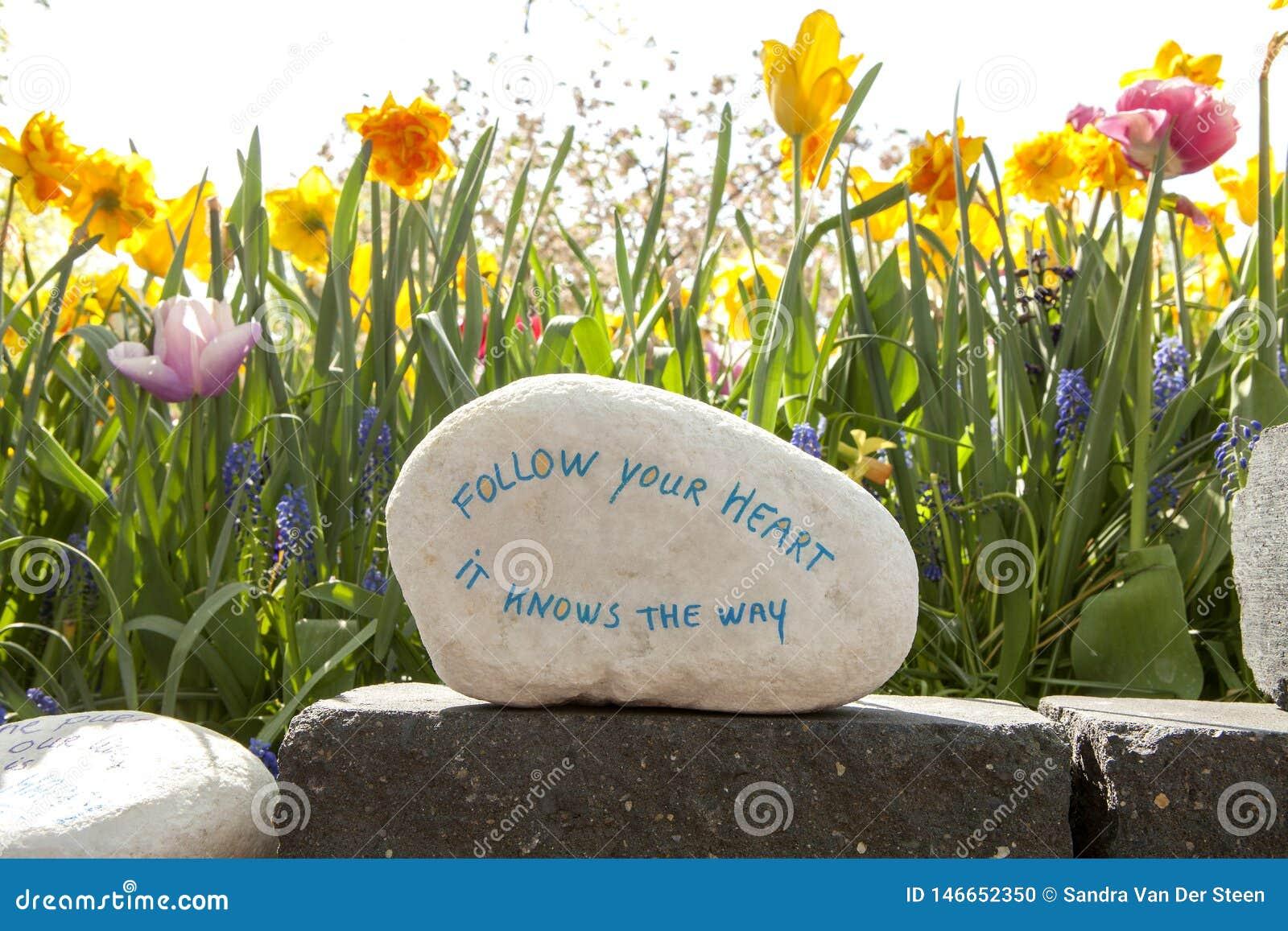 Sten med text