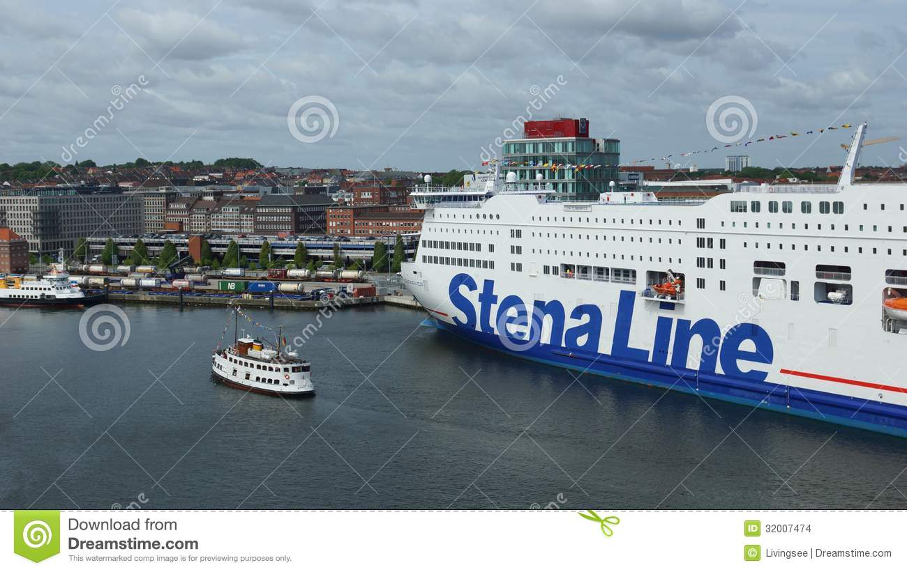 Stena Line Located In Port Of Kiel - Germany Editorial ...